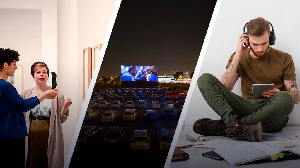 Recorridos de arte virtuales, audiolibros y cine desde el auto: las tendencias culturales que impuso la pandemia